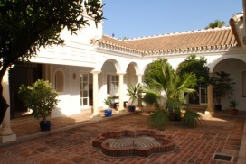 Andalusian Patio at Villa Amandos near Alhaurin in Spain