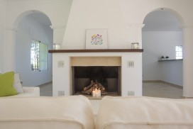 Fireplace in Luxurious Villa Amandos